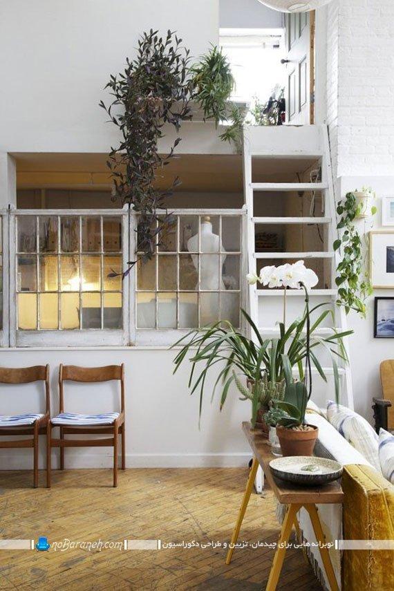 تزیین لبه پله های خانه با گلدان