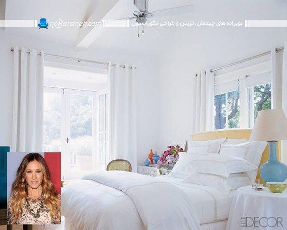 طراحی دکوراسیون روشن و زیبا در اتاق خواب