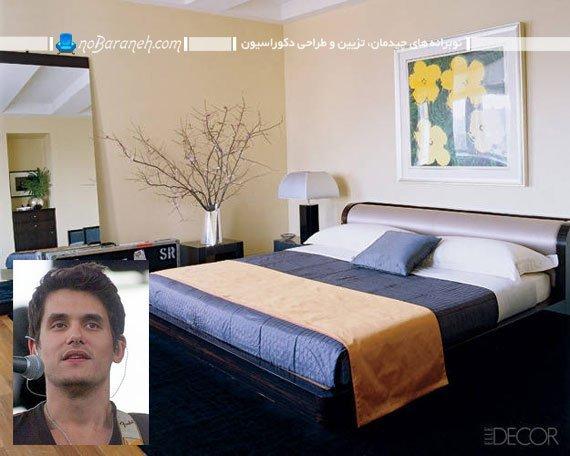 طراحی دکوراسیون ساده اتاق خواب افراد مشهور