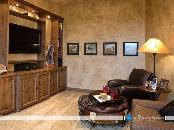 نورپردازی اتاق نشیمن مخصوص تماشای تلویزیون