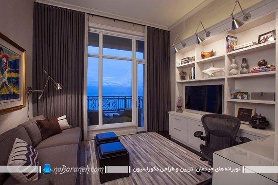 یک اتاق با دو کاربری هم دفتر کار هم اتاق تماشای تلویزیون