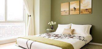 طراحی دکوراسیون اتاق خواب با رنگ سبز