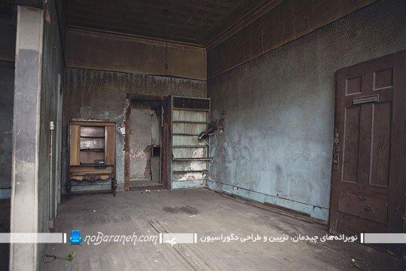 تزیین دکوراسیون داخلی اتاق متروکه