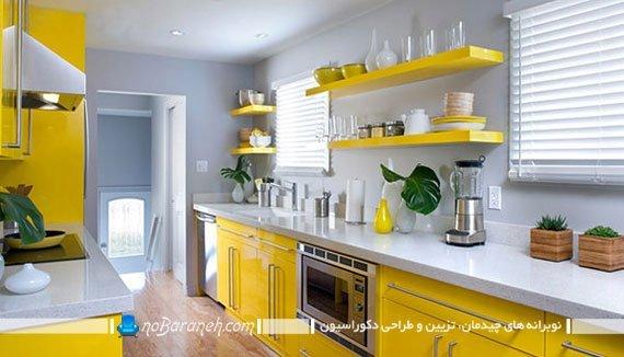 زرد اصیل در دکوراسیون آشپزخانه