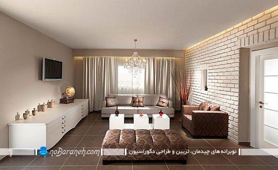 اتاق نشیمن های کوچک و مبلمان های بزرگ و سلطنتی