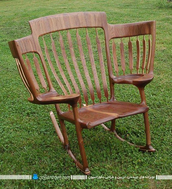 صندلی چوبی سه نفره