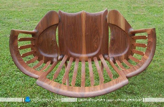 صندلی چوبی با فضای نشیمن مخصوص کودکان