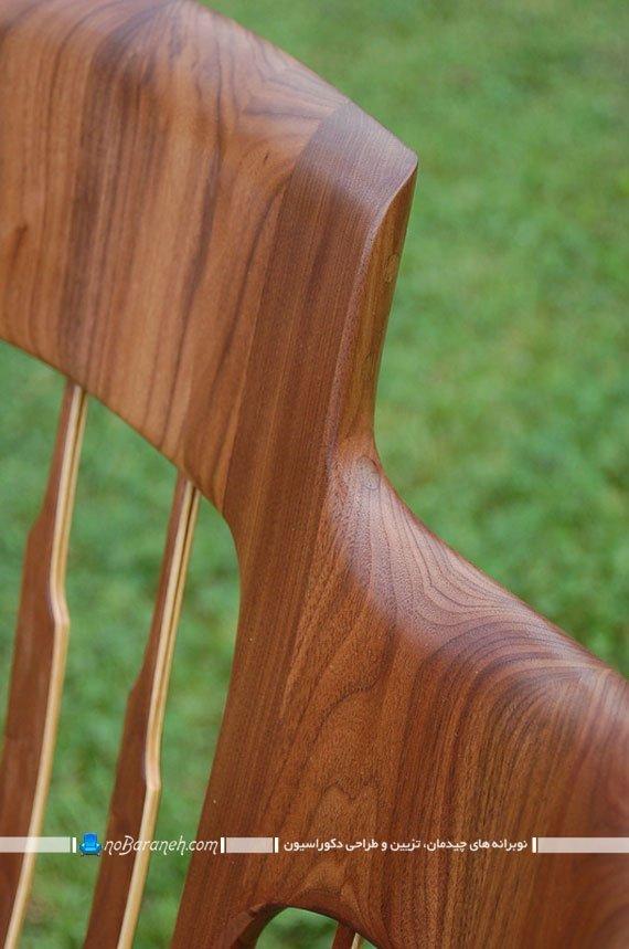 صندلی چوبی و ظریف دست ساز