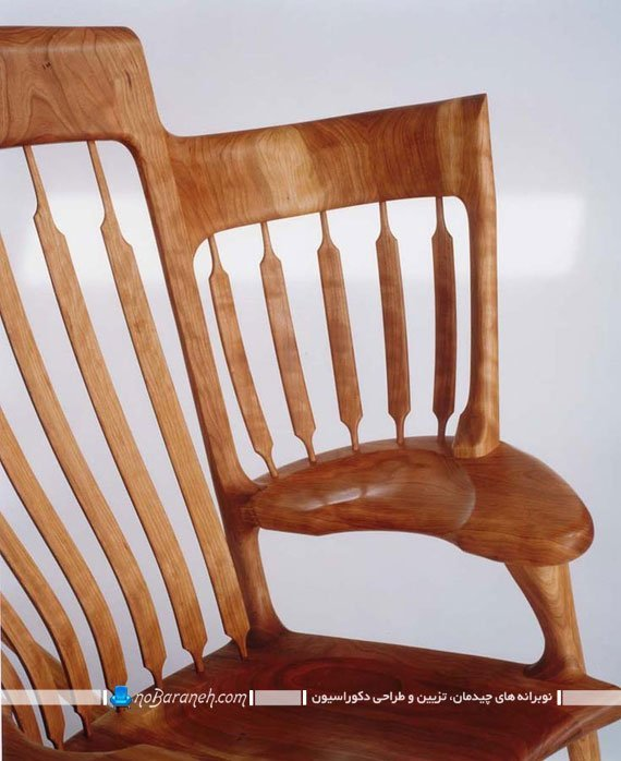 صندلی دست ساز چوبی