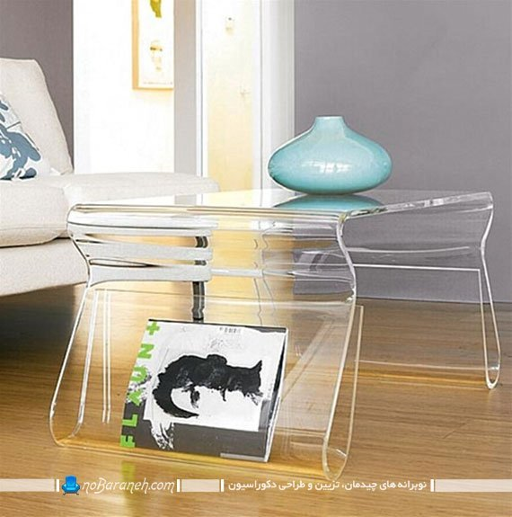میز عسلی شیشه ای