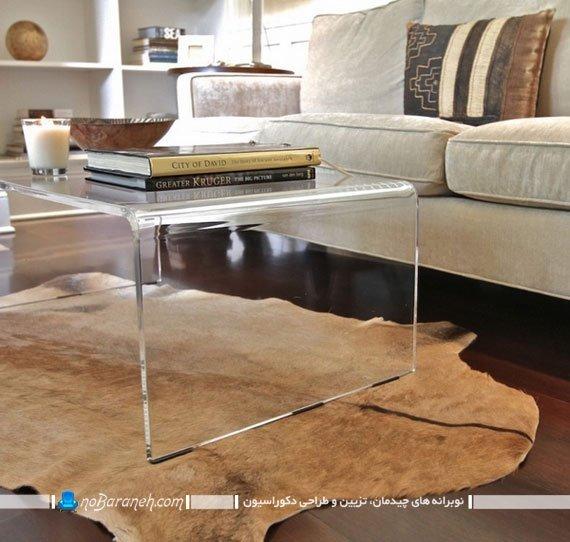 میز شیشه ای ساده