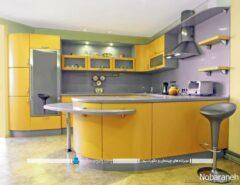 کابینت زرد آشپزخانه