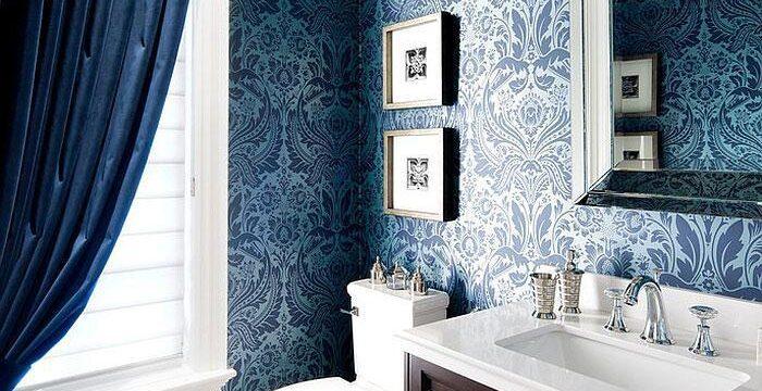 کاغذ دیواری حمام توالت