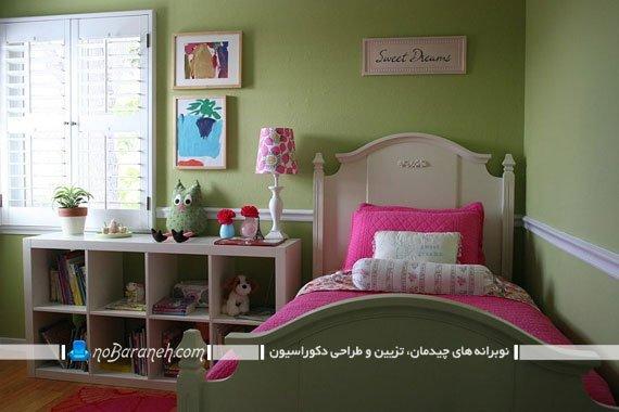 تزیین دکوراسیون اتاق کودک با رنگ سبز