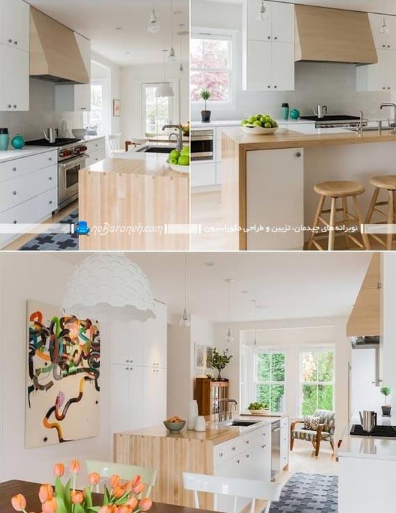 فریم بندی و قاب چوبی برای اپن آشپزخانه