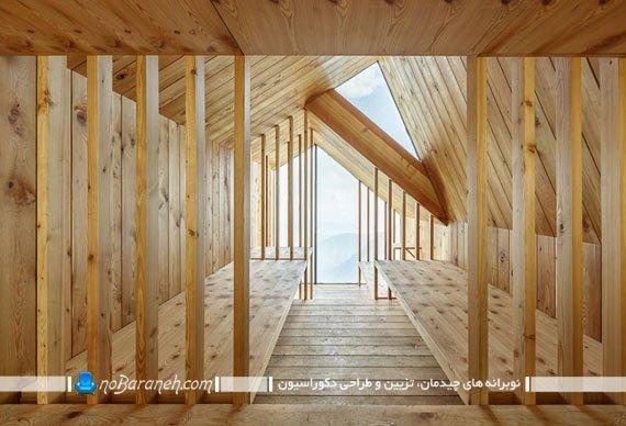 اتاق خواب چوبی بر فراز آلپ
