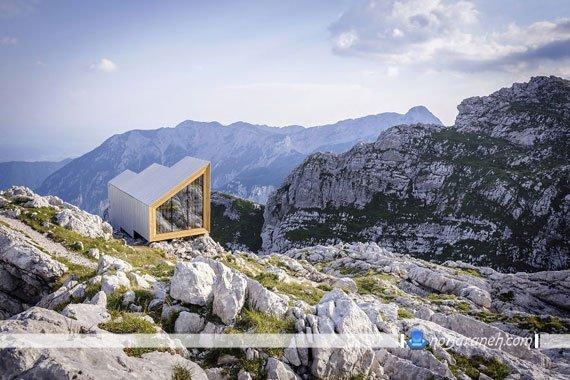 اتاق خواب و کمپ چوبی بر فراز آلپ، بفرمایید آدرنالین