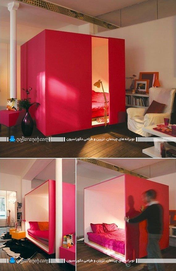 اتاق خواب های چوبی مناسب خانه های کوچک