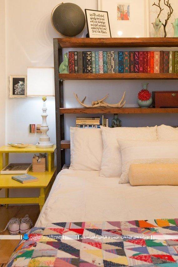 ایده هایی برای قرار دادن کتابخانه در کنار تخت خواب