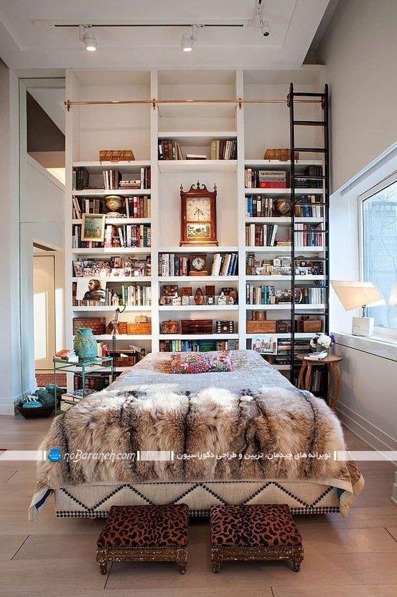 قفسه بندی و طبقه بندی دیوار اتاق خواب