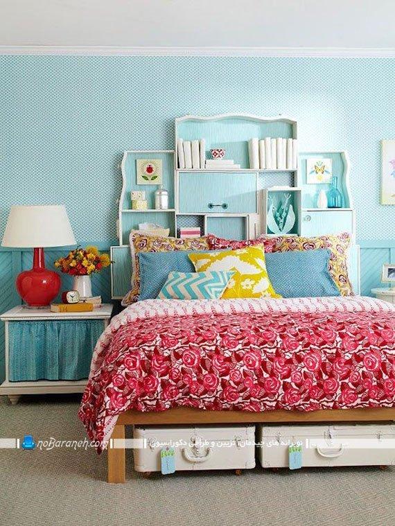 تزیین فضای خالی پشت تخت خواب