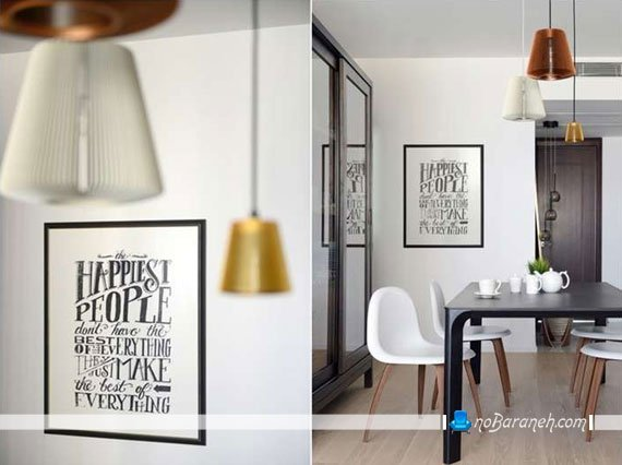 تزیین اتاق با ساتن تزیین دیوار اتاق ناهارخوری با ایده های زیبا و خلاقانه ...