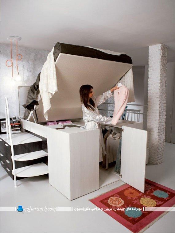 تخت خواب با فضای ذخیره سازی