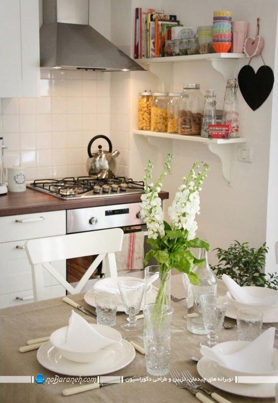 تزیین آشپزخانه با گلها و گیاهان سبز و با طراوت