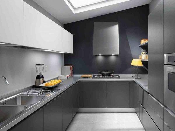 تزیین آشپزخانه با رنگ تیره و روشن
