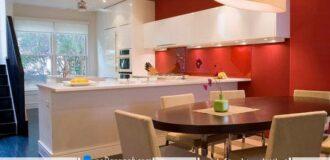 رنگ کابینت دیوار آشپزخانه