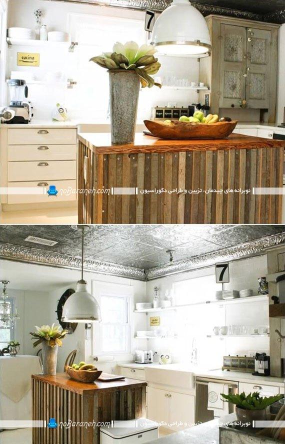 روکش تزیینی میز اپن آشپزخانه