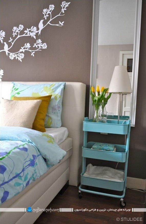 استفاده بهینه از فضای خالی کنار تخت خواب