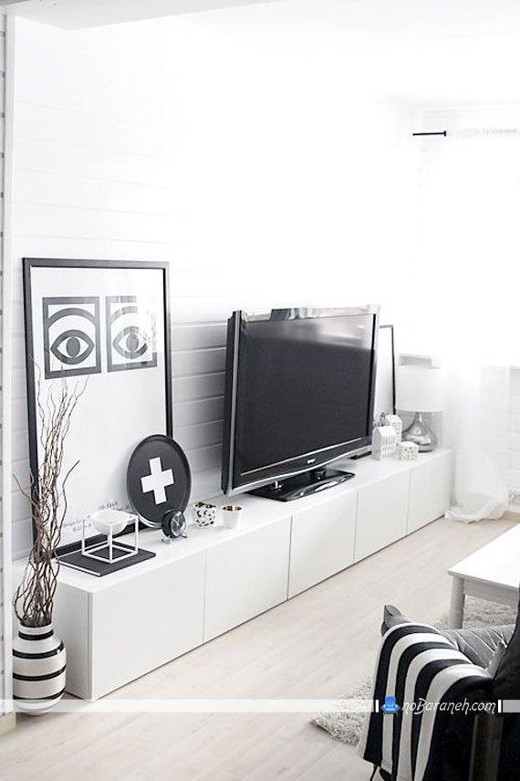 میز تلویزیون ساده به شکل باکس