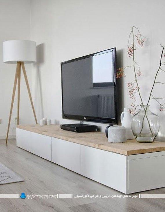 استفاده از باکس چوبی بعنوان میز تلویزیون