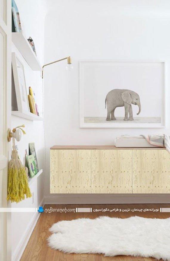 کمدهای چوبی دیواری برای اتاق کودکان