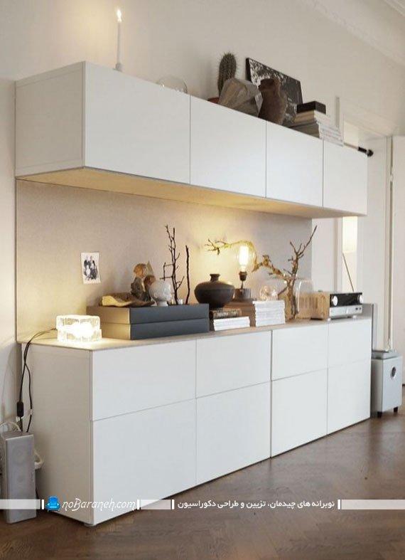 کمدهای چوبی و دکوری ایکیا برای مدیریت فضا در خانه
