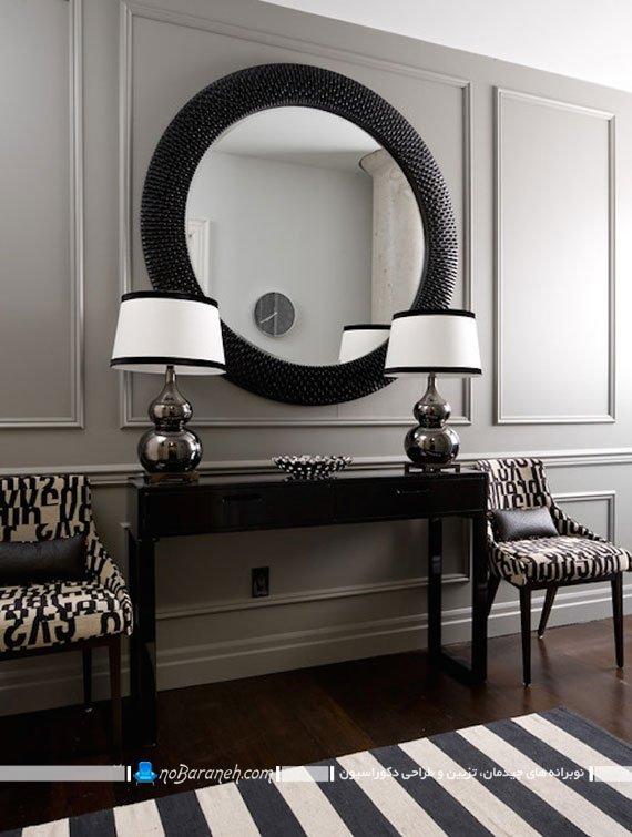 مدل آینه دیواری برای نصب در راهرو
