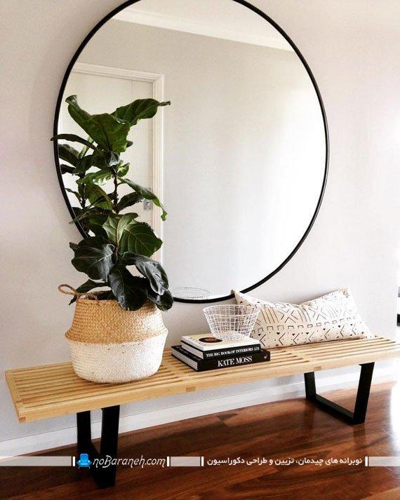تزیین و دیزاین هال با آینه های دیواری