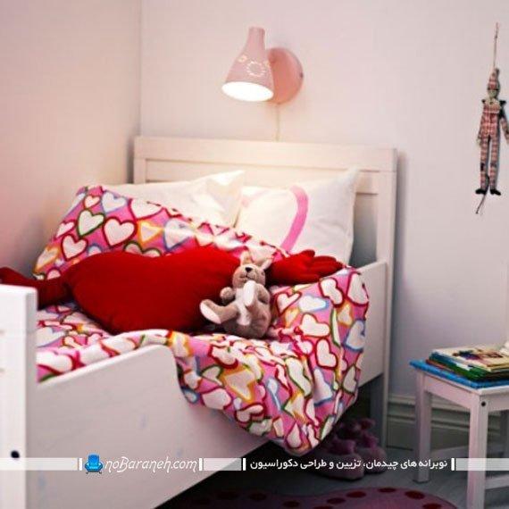 دکوراسیون دخترانه اتاق کودک. مدل تخت خواب اتاق کودک ایکیا ikea