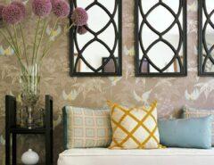 تزیین و دیزاین راهرو ورودی خانه با آینه های تزیینی