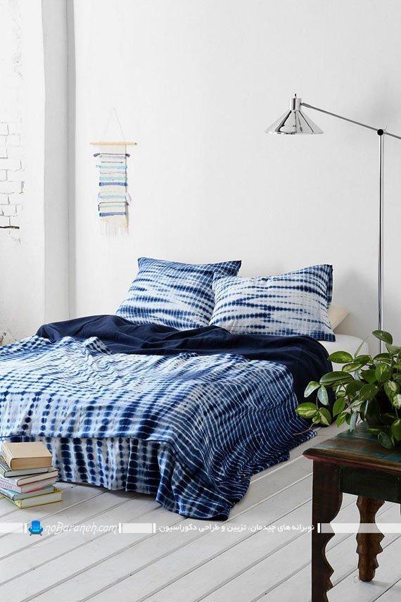 طراحی دکوراسیون اتاق خواب با رنگ آبی