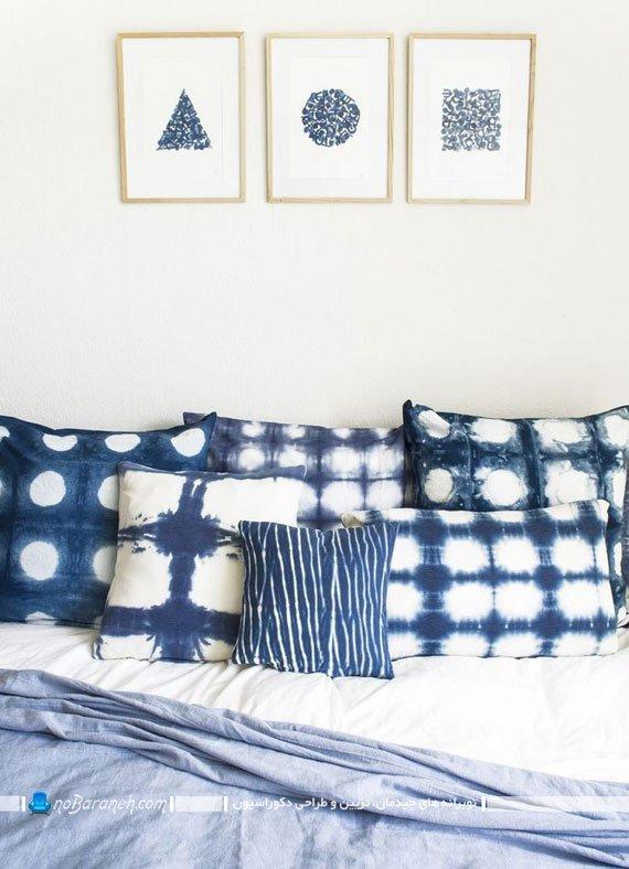 طراحی دکوراسیون اتاق خواب با آبی