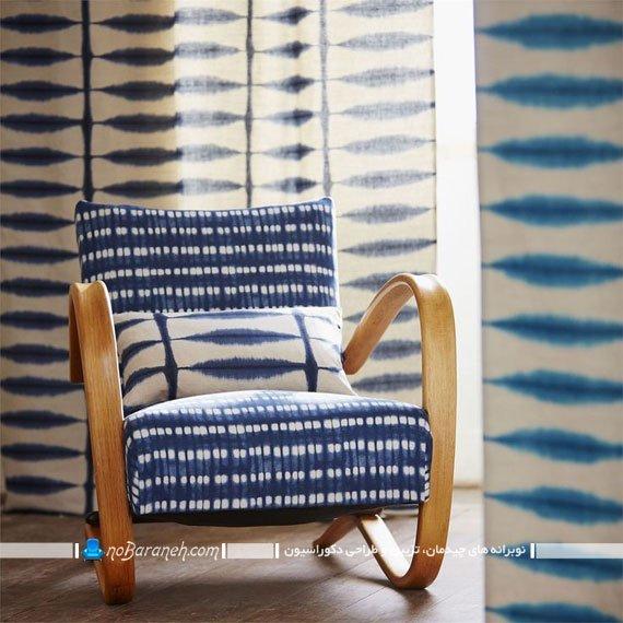 صندلی تک نفره آبی رنگ