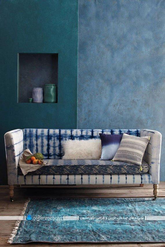 مبل و کاناپه راحتی آبی رنگ