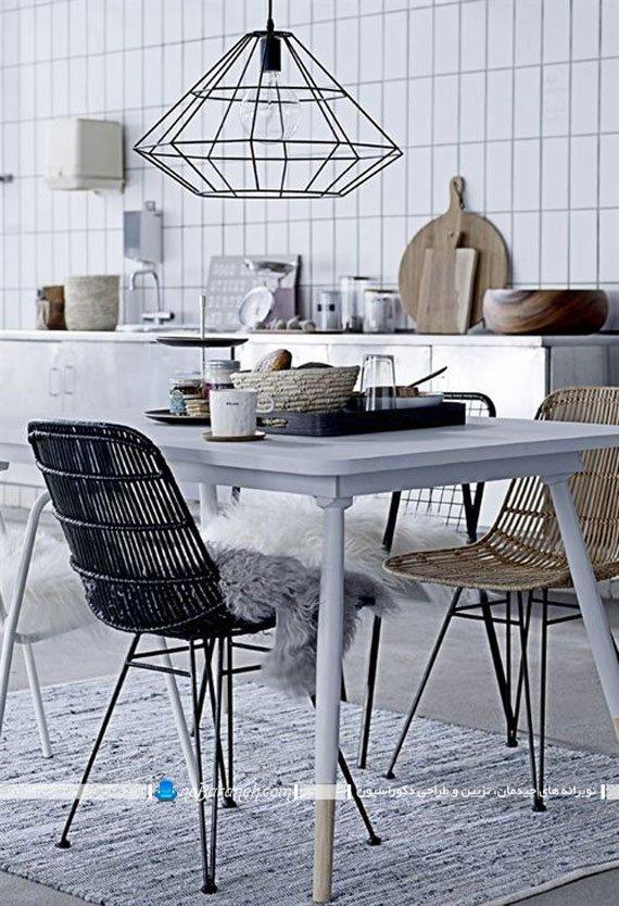 تزیین اتاق ناهارخوری با لوستر فانتزی