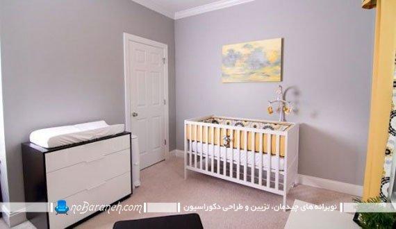 تزیین اتاق نوزاد با رنگهای سرد
