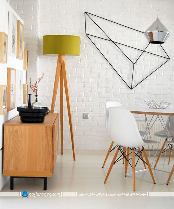 تزیینات دیواری ساده برای اتاق ناهارخوری