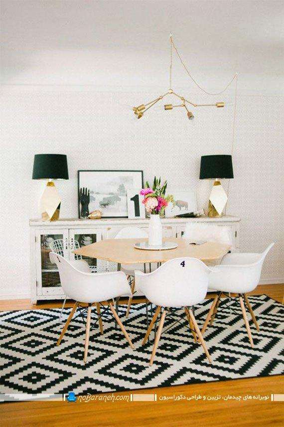 فرش مدرن اتاق ناهارخوری