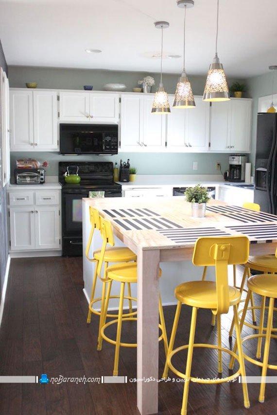 مدل های ساده و رنگی صندلی اپن آشپزخانه