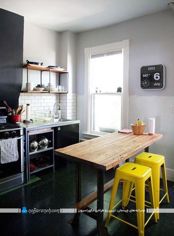 صندلی اپن آشپزخانه با جنس پلاستیکی
